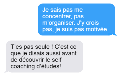 Self coaching d'études
